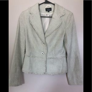KAITY BOUCLE CROPPED BLAZER BUTTON FRONT SMALL